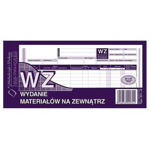 Wz wydanie materiałów na zewnątrz 1/3 a4 80 kartek 351-8 marki Michalczyk i prokop