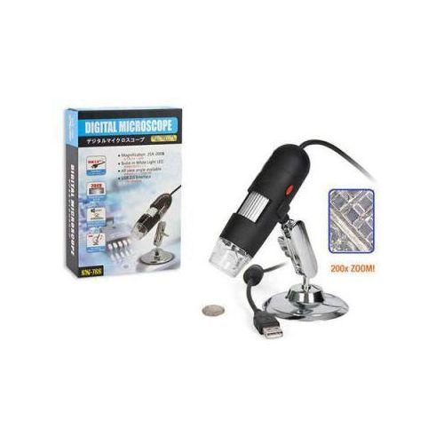 Mikroskop Cyfrowy USB (podłączany do komputera) o Powiększeniu 25-200x!!., 59077734160018