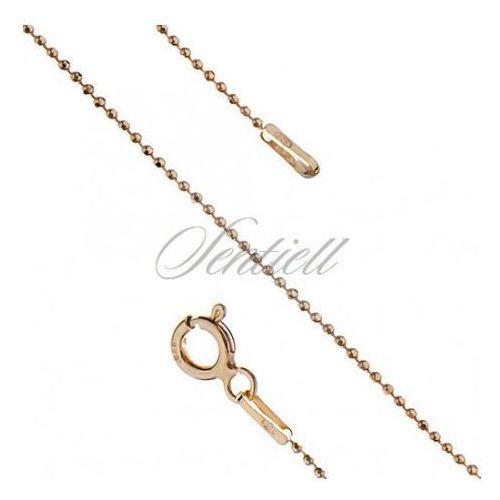 Łańcuszek ozdobny srebrny kulki pr. 925 8l waga od 1,5g - złocony - bead8lgg_100 marki Sentiell