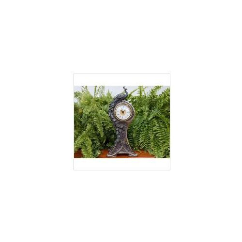 Veronese Unikatowy zegar z pięknym pawiem (an10524a4)