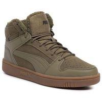 Sneakersy - rebound layup sd fur 369831 03 burnt olive/puma black/gum, Puma, 41-45