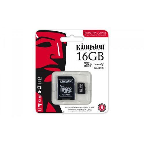 Kingston microsd 16gb cl10 uhs-i 90/45mb/s industrial