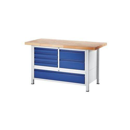 Stół warsztatowy, stabilny,6 szuflad w rozmiarze l, 1 szuflada w rozmiarze xxl marki Rau