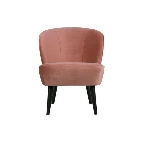 Woood fotel sara z aksamitu postarzany różowy 375690-31