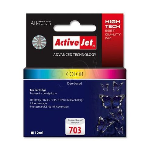 Activejet tusz ah-703cs / cd888ae nr 703 (color) darmowy odbiór w 19 miastach! (5901443014836)