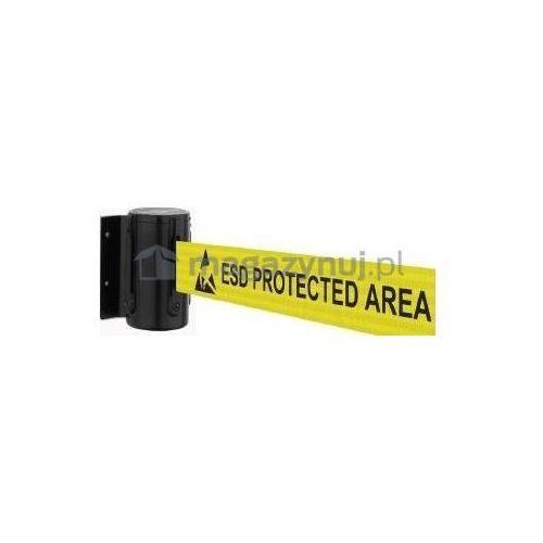 Rozwijana taśma ostrzegawcza esd + kaseta mini na śruby, zapięcie przeciwpaniczne (długość 3,65m) od producenta Tensator