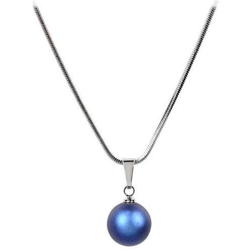 naszyjnik pearl iridescent light blue marki Troli