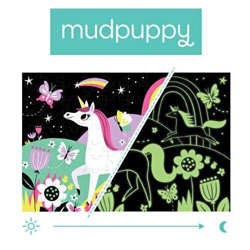 Mudpuppy  - puzzle świecące w ciemności jednorożce 100 elementów 5+