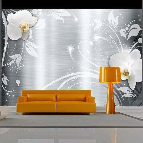 Fototapeta - orchidee na stali marki Artgeist