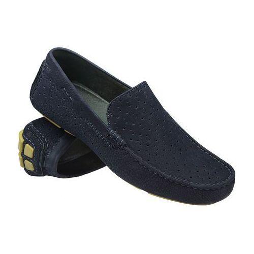 Mokasyny wsuwane buty 3171 granatowe - granatowy ||niebieski marki Badura