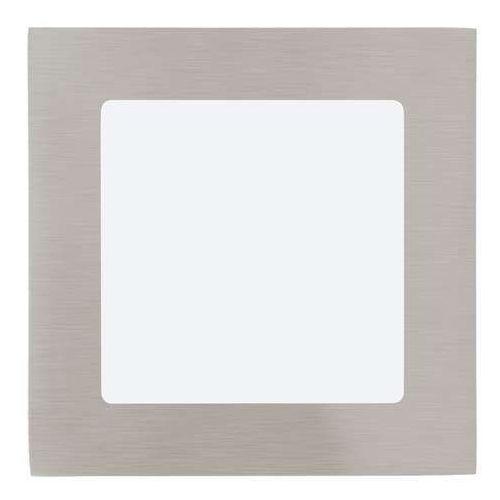 Eglo Plafon lampa sufitowa oprawa downlight oczko fueva 1 1x5,5w led nikiel mat / biały kwadr.95276 (9002759952761)