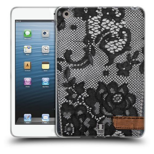 Etui silikonowe na tablet - Jeans and Laces BLACK LACE OVER BLACK DENIM, kolor czarny