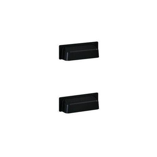 ELITA uchwyty Inge New metalowe, black, do kontenera, 2 sztuki 167192, 167192