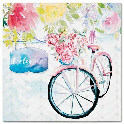 4-home Obraz na płótnie bicycle with roses, 28 x 28 cm