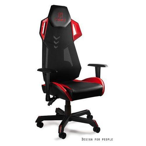 Fotel gamingowy DYNAMIT V11 czarno/czerwony