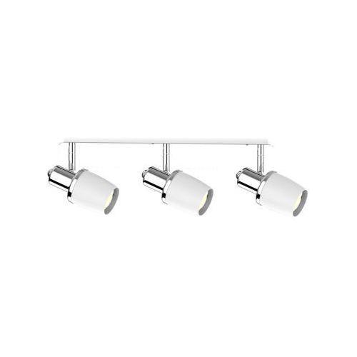 Zuma Line Poso CK180610-3 listwa lampa sufitowa spot 3x40W E14 srebrny/biały, kolor Srebrny