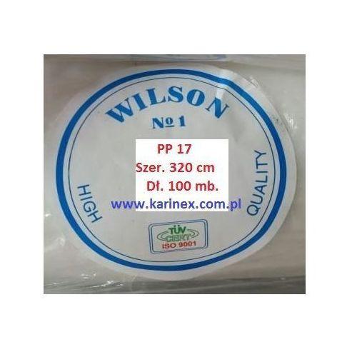 Agrowłóknina wiosenna PP 17 g/m2 biała 3,2 x 100 mb. Rolka złozona na 160 cm, Agrowłóknina wiosenna PP 17/320/100 rolka
