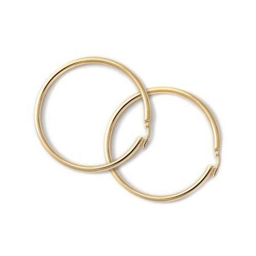 Lovrin 8k złote kolczyki klasyczne koła szarnir 333 gratisy