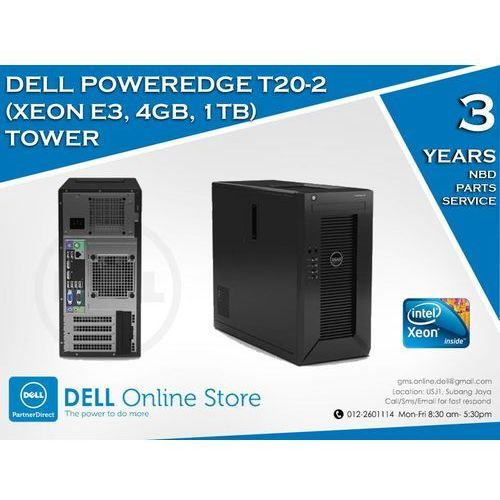 DELL PowerEdge T20 XEON QUAD CORE 4X 3.4/16GB 2x1TB Win.Server Fund. 2012/3NBD