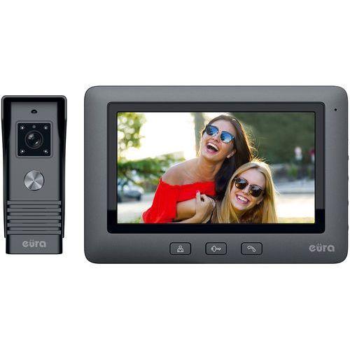 Wideodomofon EURA VDP-45A3 ALPHA czarny kolor monitor 7'' obsługa 1 wejścia (5905548276816)