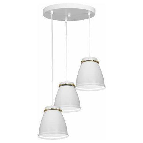 Luminex lerdo 1944 lampa wisząca zwis 3x60w e27 biała/złota (5907565919448)