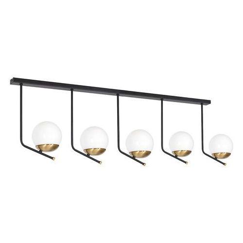 Milagro Carina MLP4865 plafon lampa sufitowa 5x40W E14 czarny mat / mosiądz (5902693748656)
