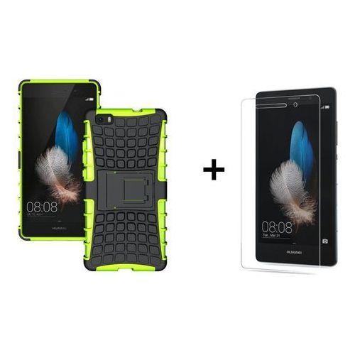 Zestaw Pancerna obudowa etui Perfect Armor Zielona + Szkło hartowane Perfect Glass Huawei P8 Lite (Futerał telefoniczny)