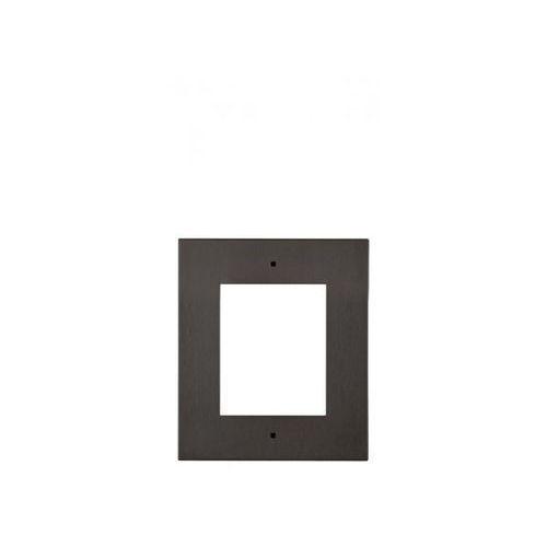 2n ip verso płyta czołowa do montażu podtynkowego dla 1 modułu - czarna (8595159509419)
