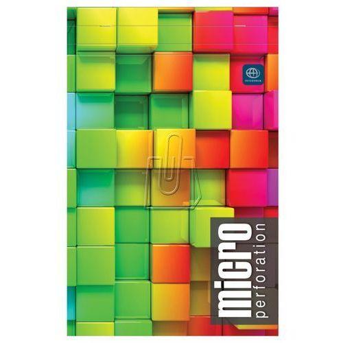 Blok biurowy z mikroperforacją  a5+ 80 kartek kratka marki Interdruk