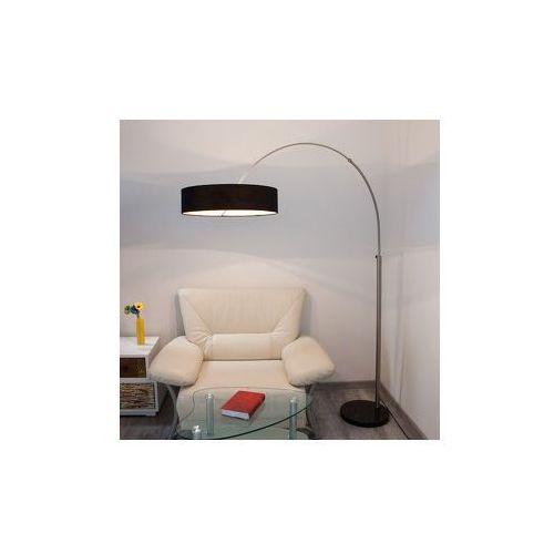 Materiałowa lampa stojąca SHING z czarnym abażurem (6291106556636)