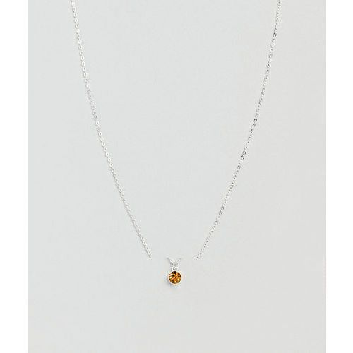 Pieces Gem Stone Necklace - Silver