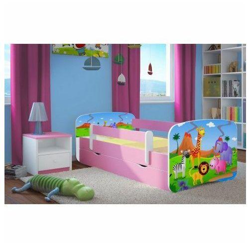 Łóżko dla dziewczynki z materacem happy 2x mix 80x180 - różowe marki Producent: elior