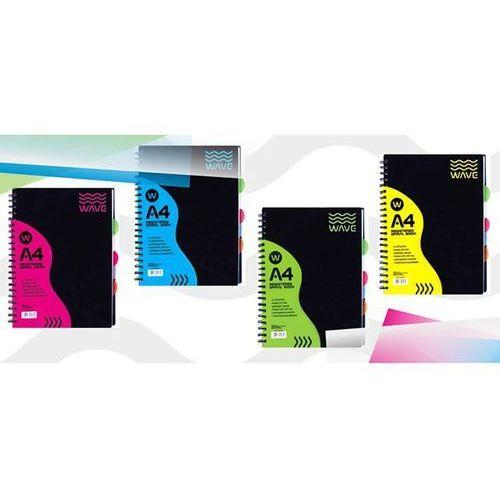 Astra papiernicze Kołozeszyt a5 120 kartek w kratkę folia pp wave + zakładka do książki gratis (5901137008110)