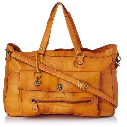 totally royal leather travel bag noos 17055349torby na ramię women's, rozmiar 1 (jeden rozmiar), brązowy (koniak) marki Pieces