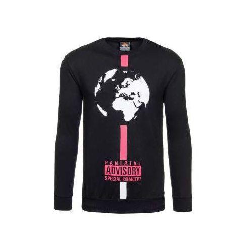 Czarna bluza męska bez kaptura denley 0388 marki Athletic