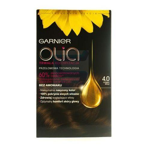 Garnier Olia farba do włosów bez amoniaku ciemny brąz nr 4.0