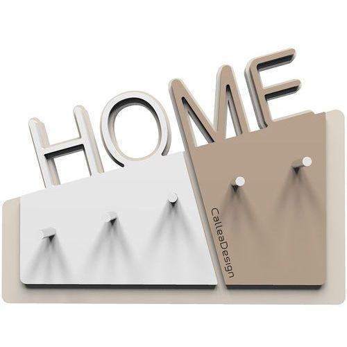 Wieszak na klucze Home CalleaDesign caffelatte / biały (18-001-14)