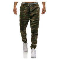 Spodnie męskie dresowe joggery moro multikolor denley 3771c, Crws dnm