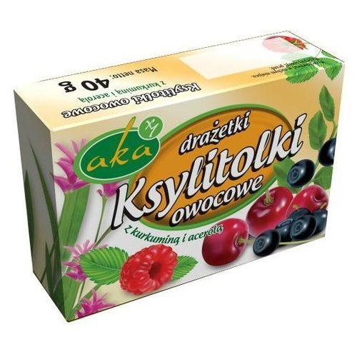 Ksylitolki drażetki owocowe z acerolą pudrowe 40g -  marki Aka