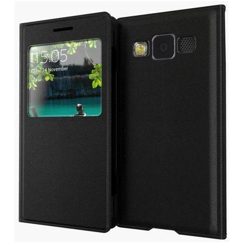 Flip Leather Czarny | Etui z klapką dla Samsung Galaxy A3 (2016) (Futerał telefoniczny)