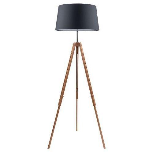 Lampa stojąca SPOT Light TRIPOD antracyt drewno (5901602336038)