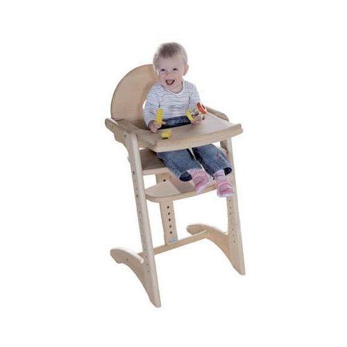 GEUTHER Krzesełko do karmienia Filou z litego drewna bukowego (2360) - kolor naturalny (4010221044451)