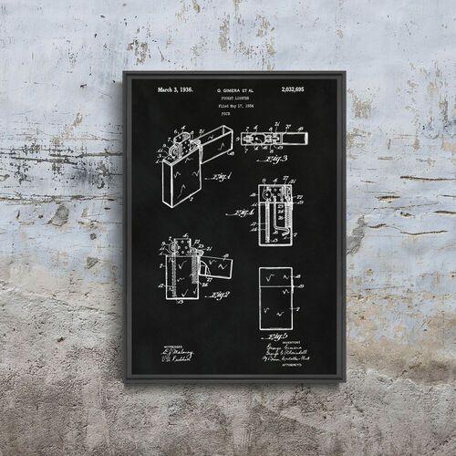 Plakat do pokoju Plakat do pokoju Zapalniczka Zippo Gimera Patent USA