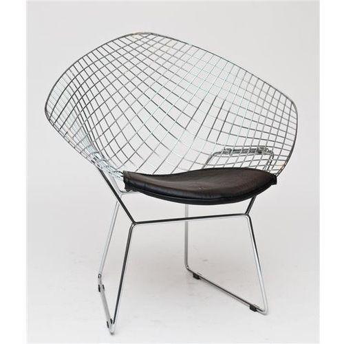 Krzesło HarryArm inspirowane Diamond Armchair - czarny (5902385714365)