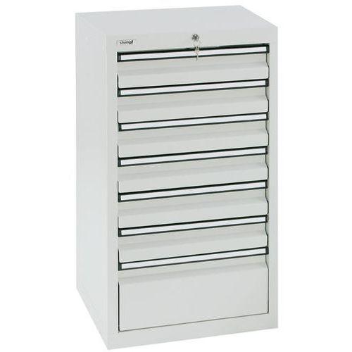 Szafka z szufladami, wys. x szer. x gł. 900x500x500 mm, 6 szuflad o wys. 100 mm, marki Stumpf-metall