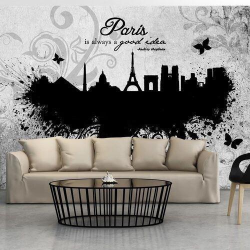 Fototapeta - paris is always a good idea - black and white marki Artgeist