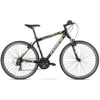 Rower INDIANA X-Cross 1.0 M17 Czarno-Zielony Połysk BP + DARMOWY TRANSPORT! + Rabat na wszystkie akcesoria rowerowe! - oferta [8570497cd7e57650]