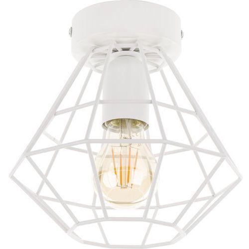 Tklighting Plafon lampa druciana sufitowa diament tk lighting diamond 1x60w e27 biały 2292 (5901780522926)