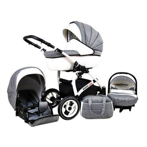 Sun Baby Wózek wielofunkcyjny White lux 3w1, carbon (2010963010013)