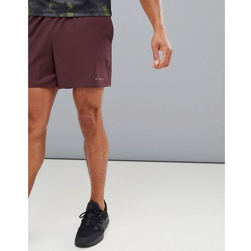 Asos 4505 training shorts in mid length with quick dry in burgundy - red